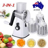 AU Kitchen Multifunction Vegetable Food Manual Rotary Drum Grater Chopper Slicer