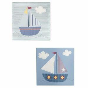 Tiddliwinks sailboat canvas wall art set of 2