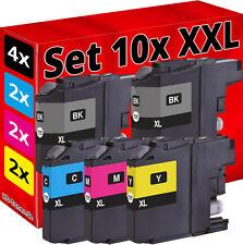 10x PATRONE für BROTHER MFC-J4410DW J4510DW DCP-J132W J152W J245 J552DW J4110DW