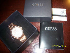 Guess Watch Ladies' Wristwatch W16017L1 Glisten rose gold NWT - Nice. FREE  SH