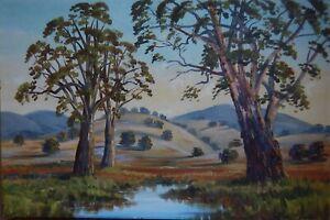 """""""AFTER THE RAINS"""" Large, Powerful, Classic Australian Landscape - Original, Oil"""