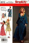 Simplicity Pattern 8013 Misses 1970s Vintage Dress 6-14 or 14-22 NEW