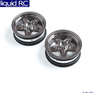 Losi 43049 Front Wheel Black Chrome 2 : 22S Drag
