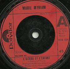 MARIE MYRIAM - L'OISEAU ET L'ENFANT / THE BIRD AND THE CHILD - ORIGINAL 70s POP