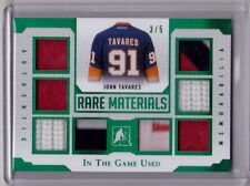 JOHN TAVARES 16/17 Leaf In The Game Used RARE MATERIALS Patch Jersey 3/5 EMERALD