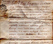 1775 Parchemin Vente Rivière-les-Fosses SEJOURNANT TRECOURT BOCQUENET VIRION