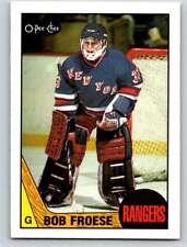 (HCW) 1987-88 O-Pee-Chee #195 Bob Froese NY Rangers