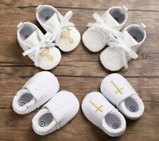 Infant Christening Shoes Newborn Baby Boy Girl Crib Shoes First Step Shoes 0-18M