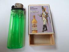 Ancienne boite allumettes vide - SELOR Huile d'arachide - Ham-Sur-Heure -BELGIUM