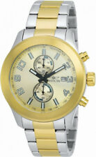 Invicta Specialty 21491 Men's Round Gold Tone Analog Chronograph Date Watch