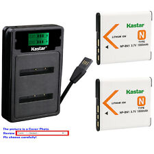 Kastar Battery LCD Dual Charger for Sony NP-BN1 BC-CSN Sony Cyber-shot DSC-W830