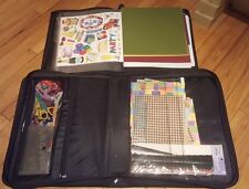 Scrapbook Carry Case with LOT of supplies