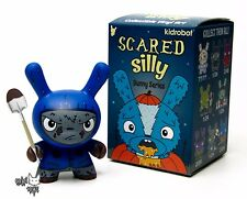 "Cyrus Grave Digger Blue - Kidrobot Scared Silly Dunny Series by The Bots 3"" New"