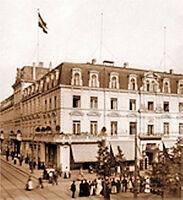 Düsseldorf Baubank histor. Aktie 1922 Hotel Breidenbacher Hof  Immobilien Bank