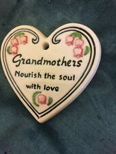 Ceramic plaque grandmother heart