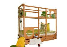 Braune Kinder-Bettgestelle ohne Matratze aus Buche 200 cm