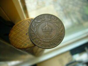 1913 NEWFOUNDLAND LARGE CENT PENNY