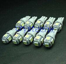 10 x T10 194,168,2825, 5 x 5050 SMD LED White Super Bright Car Lights Lamp Bulb