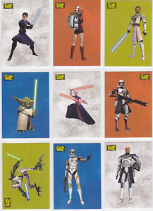 STAR WARS 2008 TOPPS THE CLONE WARS MOVIE STICKERS BASE TRADING CARD SET (90)