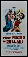 Cartel Per Un Puño Por Dólares Clint Eastwood Sergio Leone Western Cine N20