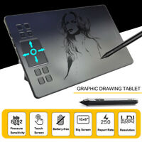 "VEIKK A50 10""x6"" Art Digital Graphic Drawing Tablet 8192 Levels W/ Passive    ∏"
