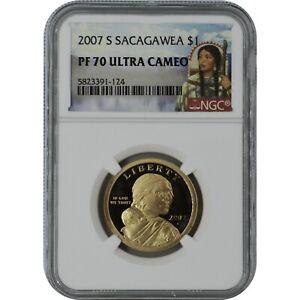 2007-S Sacagawea Proof Coin NGC PF70 Ultra Cameo Sacagawea Label