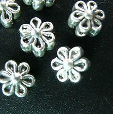 50pcs Tibetan Silver flower spacer beads T252