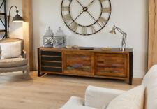 Urban Chic Furniture Reclaimed Wood Extra Large Sideboard Steel Frame