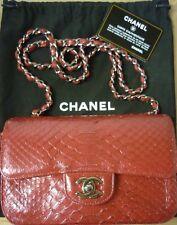 Authentic Rara CHANEL 2.55 MINI Flap PYTHON RED 233236011 COA autenticare 4U