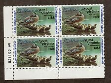 WV2A - West Virginia State Duck Stamp. P/B4.OG. Non Res. PNS A/S.#02 WV2APB4BLAS