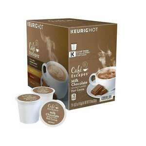 Keurig Cafe Escapes Milk Chocolate Hot Cocoa, K-Cup Pods, 120 Count