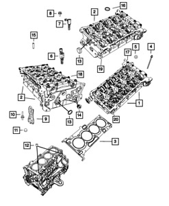 Genuine MOPAR Double Ended Stud Mounting 6102397AA