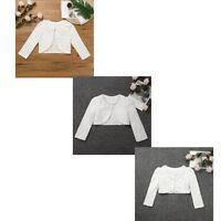 Girls Kids Bolero Shrug Flower Girl Bridesmaids Weddings Party Cardigan Jacket