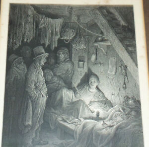 ENGLISH COPPER PLATE ENGRAVING BLACK & WHITE PRINT FRAMED 8 X 10 MADE IN1850'S