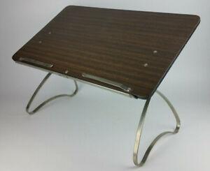 Vtg Lap Desk Podium Portable Lectern Preachers Toastmasters Adjustable Sit Stand