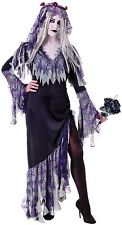 Ladies Zombie Corpse Bride Dead Scary Halloween Fancy Dress Costume Outfit