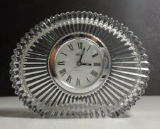 Mikasa Japan Diamond Fire Crystal Quartz Mantel Clock WY247/815 w/NEW Battery