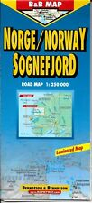 Map of Norway, (Sognefjord) Laminated & Folded by Berndston Maps