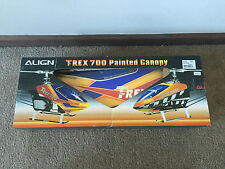 Brand New in Box Align TRex 700E Painted Canopy HC7017T Blue, Red & Yellow!!!
