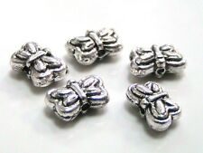 25 x  10mm Tibetan Silver Butterfly Beads Spacers Jewellery Craft Beading  O50