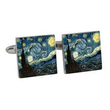Van Gogh Starry Night Painting Cufflinks BNIB