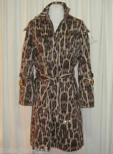 "STUNNING SASS&BIDE LEOPARD PRINT COTTON TRENCHCOAT AUS 8/10/12 ""TRACK AND FIELD"""