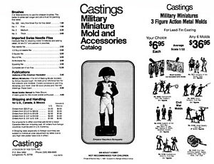 LEAD TIN TOY SOLDIER MOLD METAL CASTINGS MILITARY MINI 1980s CATALOG PDF FILE
