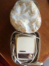 Dominion hair dryer model 1837~1960s~white bonnet~original portable travel case