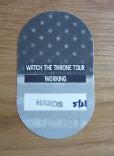 JAY-Z KANYE WEST WATCH THE THRONE TOUR (O2) Rare Tour Used Backstage Pass 4