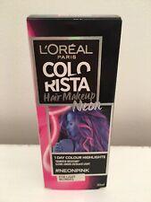 Loreal Colorista Neon Pink Temporary Light Blonde Hair Colour  Makeup 30ml