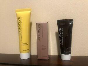 New Josie Maran Essentials Travel Set Argan Face Butter/Oil/Pineapple Cleanser