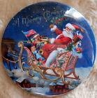 "Nostalgic 3"" Celluloid Santa Claus Pinback, Very Colorful"