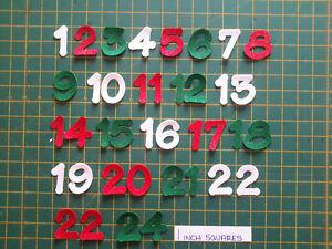 "2"" Number Sets - Felt Iron On -  Numbers 1 -24   -  Glitter Lollipop Font"
