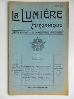 Revista la Lumière Masónico Junio 1912